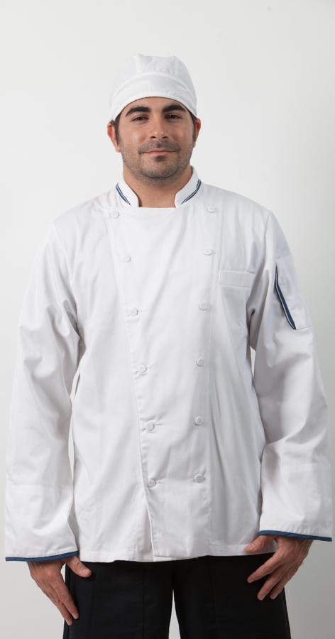 ז'קט שף קורדון בלו ובנדנת שף