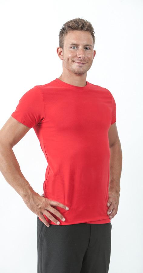 חולצה אדומה לגבר