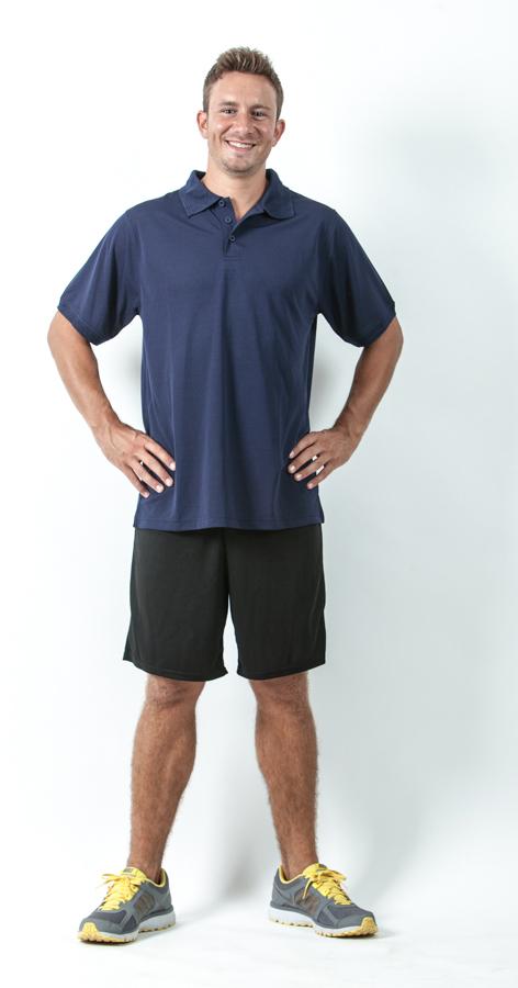 חולצת פולו ומכנס קצר