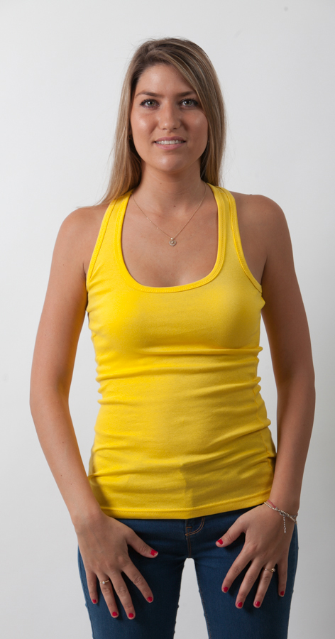 גופיה צהובה נשים
